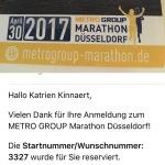 Inschrijving Marathon Düsseldorf